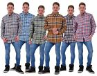 Mens Checked Shirt Malay Apparel Cotton Casual Wear Long Sleeve Button Top M-2XL