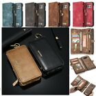 Multifunction Genuine Leather Magnetic Removable Zipper Wallet Card Case Cover $12.99 USD on eBay