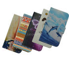 For ASUS ZTE HUAWEI PU leathe cell phone cover cartoon flower card wallet