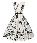 Women Vintage Floral Bodycon Sleeveless Casual Evening Party Cocktail Prom Dress