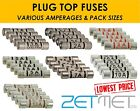 1A 2A 3A 5A 7A 10A 13A Ceramic Household Domestic Mains Plug Top Fuses Cartridge