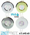 IP65 Outdoor Soffit / Bathroom Shower GU10 LED Ceiling Downlight Spotlight Light