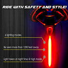 6 Mode USB Rechargeable LED Bicycle Bike Light Cycling Front Rear Tail Light US