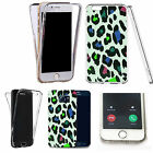 Shockproof 360° Silicone Clear Case Cover For many mobiles - animal zoo print