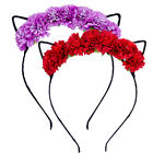 Fashion Fancy Flower Cat Ear Headband Hair Band Hair hoop Cartoon Clothes Crafts