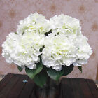 5 Flower Heads Artificial Flower Bunch Hotel Wedding Garden Decor Hydrangea