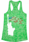 This Is My Country Women's Burnout Racerback Tank Tops USA Patriotic 4th of July