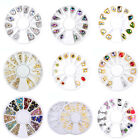 12 Types 3D Nail Art Tips Gem Crystal Metal Glitter Rhinestone DIY Sequins New