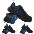 MENS BLACK SAFETY FOOTWEAR STEEL TOE CAPPED WORK TRAINER BOOTS SHOES LIGHTWEIGHT