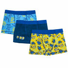 NEW 3 PACK OF BOYS DESPICICABLE ME MINIONS TRUNKS BOXER SHORTS - AGE 5-16
