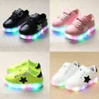 New LED Light Up Luminous Shoes Kids Toddler Infants Trainers Boys Girls