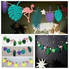 Flamingo Pineapple Garland Leaves Banner Summer Home Birthday Party Bunting Dec