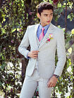 Stock White Stripes Men Wedding Suits Groom Tuxedos Best Man Suit Business Wear
