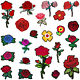 Embroidery Flower Patches Lot Applique Iron On Patch DIY Sewing Craft