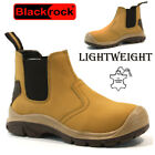 MENS LADIES LEATHER STEEL TOE CAP SAFETY WORK ANKLE TRAINERS SHOES BOOTS SIZE