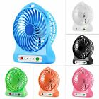 Portable Rechargeable LED Fan air Cooler Mini Operated Desk USB 18650 Battery@F