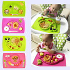 no bpa - Silicone Mat Table Baby Kids One-piece Food Dish Tray Placemat Plate Bowl No BPA