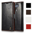 Premium Magnetic Leather Card Wallet Stand Pouch Folio Case Cover For LG V10
