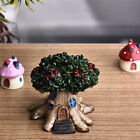 Fairy Tree House Miniature Garden Lawn Patio Outdoor Landscape Decor Decoration