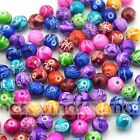 50/100pcs Colorful Abstract Round Shape Acrylic Loose Spacer Beads 8/10/12/14mm