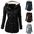 PLUS FASHION WINTER WARM WOMENS LADIES HOODED TRENCH PARKA JACKET COAT OVERCOAT