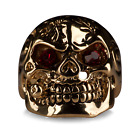 Mens Stainless Steel Big Skull Ring Gothic Biker Punk Size N P Q R U