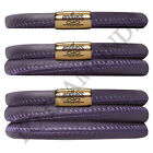 Endless Jewelry Purple Leather Bracelet - Gold Tone Stainless Steel Clasp
