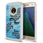 For Motorola Moto G5 Plus 5.2 inch Bling Hybrid Hard Rubber Silicone Case Cover