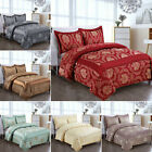 3 PC Jacquard Bedspread Quilted Set with Matching Pillows, Curtains and Cushions image