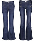 Womens Mid Rise Bootcut Flared Jeans Ladies Stretch Denim Pant Trouser Size 6-12