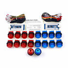18 x 30mm LED Illuminated Push Button To Joystick + 4 In 1 LED USB Encoder Board