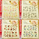 Color Printing Water Tranfer Nail Art Stickers Butterfly Flower Red Style 6-3336