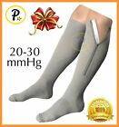 Presadee Closed Toe 20-30 mmHg Zipper Compression Relief Swelling Socks Grey