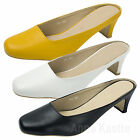 AnnaKastle Womens Faux Leather Backless Heel Pumps US 5 6 7 8