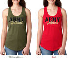 Army Girlfriend wife finance tank top fitness military RacerbacK Workout Shirt