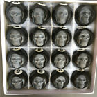Hand Carved Head Human Skull in Billiard Pool Ball 1 Set of 16 Billiard 52mm $152.99 USD