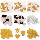 Gold Glitter Paper Circle Star Heart Confetti Party Wedding Birthday Table Decor