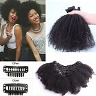 100% Unprocessed Virgin Afro Kinky Curly Clip In Human Hair Extensions 10PC 120G