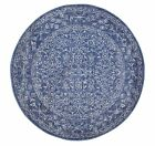Round Rug Circle Navy Carpet Mat New Traditional Modern Assorted Sizes Available