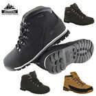 MENS LEATHER GROUNDWORK  SAFETY WORK BOOTS STEEL TOE HIKER SHOE TRAINER BOOTS