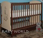 MIKI BABY COT WITH BOTTOM DRAWER + HIGH QUALITY MATTRESS BEST VALUE 4 DESIGNS