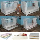 TEDDY BEARS BABY COT 120 60 + BOTTOM DRAWER + HIGH QUALITY MATTRESS 5 OPTIONS