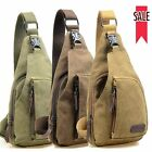 Protable Men's Jointly Bag Small Canvas Chest Bag Backpack Cross Body Carry Bag