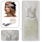 Vintage 1920s 1930s Flapper Dress Gatsby Sequin Beaded Fringed Party 20s Costume
