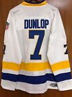 Dunlop Charlestown Chiefs Jersey 7 Slap Shot Movie Hockey Stitched White New