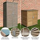 Airwave Wooden Double Door Box Outdoor Garden Storage Cupboard Tool Shed