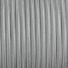 Silver decorative braided fabric cable for lamps in round and twisted options