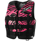 New Womens Juniors Slippery Ray Vest Life Jacket Black Pink XS-L