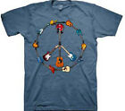 Guitar Peace Sign T-Shirt  Free Shipping New