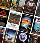 CLASSIC VINTAGE MOVIE POSTERS - A4 A3 A2 - HD Prints - Jurassic Park, Jaws, ET £10.99 GBP